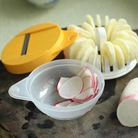 Wholesale 48sets Microwave Oven Potato Chips Maker Machine Potato Chip Cutter Three Piece Complete Set DIY Baking Tool