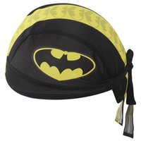 Wholesale Soul Travel Bats Pirate Hats Riding Outdoor Sports Pirate Turban Polyester Black Yellow with Pattern Mountain Road Bike Sports Cap