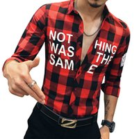Wholesale Spring Fall New Mens Casual Plaid Shirts Long Sleeve Slim Fit Comfort Soft Flannel Cotton Shirt Leisure Styles Man Clothes