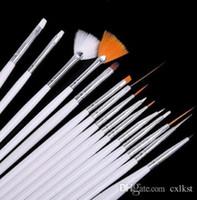 Wholesale 15pcs Dotting Painting Drawing Polish Pen Tools Set Nail Art Design Brushes Kit Brand New Good Quality