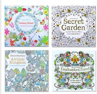 Wholesale New Coloring Books Designs Secret Garden Animal Kingdom Fantasy Dream and Enchanted Forest Pages Kids Adult Painting Colouring Books