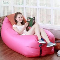 Wholesale Factory to USA Fast Inflatable Sofa Sleeping Bag Outdoor Air Sleep Sofa Couch Portable Sleeping Hangout Lounger Easy to Take