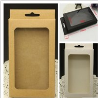 Wholesale universal Plain Kraft Brown Paper Retail Package Box boxes for phone case cover iPhone S S PLUS Samsung Galaxy S4 S5 S6 s7 edge