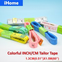 aluminum rulers - pc CM quot inch Accurate Tailoring Croaft Sewing Clothing Ruler Metric Figure Furnituer Tape Measure Clothing Size Meterstick