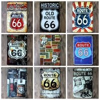 antique street signs - 2016 cm get your kicks on route us main street Tin Sign Coffee Shop Bar Restaurant Wall Art decoration Bar Metal Paintings