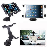 Wholesale Car Windshield and Desk Top Mount Bracket Holder For iPad2 Air Air2 mini and Other inch Tablet PC degrees rotation