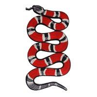al por mayor bordado apliques de coser-Patrón de serpiente Patches de tela Decoración Bordado Coser en parches Adornos Adornos de costura