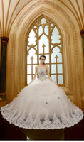 Wholesale 2016 Sexy Wedding Dress Sweetheart Rhinestone Beading Champagne Color Illusion Backless Beading Sweep Train Ball Gown
