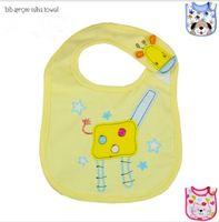 Wholesale Cartoon Baby Cotton Bib Baby Bibs Three layer Waterproof Saliva Towel Pattern Bib Burp Cloths Baby Feeding Free Ship