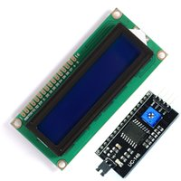 Wholesale x2 HD44780 Character LCD blue IIC I2C Serial Interface Adapter Module