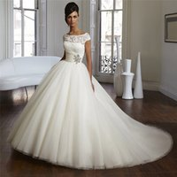 robe mariage 2017 robe de mariage ball gown wedding dresses tulle crystal princess bridal gowns - La Roub De Mariage