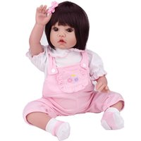 baby fashion games for girls - Lifelike Silicone Reborn Baby Dolls quot Vinyl Black Hair Girl for Playhouse Game Kids Gifts Toy Hobbies