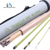 Wholesale Maximumcatch Ultra lite FT wt Fly Fishing Rod Medium Fast Fishing Cane with Durable Cordura Tube