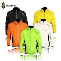 Cheap Hot! Plus Size Tour de France Cycling Sports Shirts Men Riding Breathable Reflective Jersey Cycle Clothing Long Sleeve Wind Coat Jacket