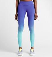 Wholesale New rainbow printing fitness sports tights woman yoga pants running woman fitness pants leggings female yoga pant