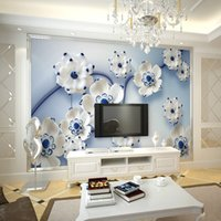 Plant apply paper - Modern minimalist D three dimensional relief wall stickers orchid paper applies bedroom TV backdrop sofa background restaurant free shippi