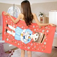Wholesale Superfine fiber Printing towel Cartoon girl Beach towel flower sunshine bath towels cm dry quickly towel