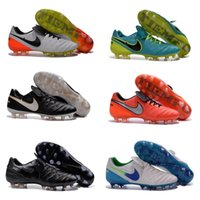 Wholesale new oriGINal mens low ankle football boots Boys Kids men FG AG outdoor turf soccer shoes TieMPo LeGEnd VI soccer cleats