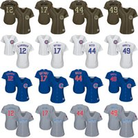 Wholesale 2016 World Series Champions patch women Kris Bryant Arrieta Anthony Rizzo Kyle Schwarber Chicago Cubs Baseball Jersey stitched