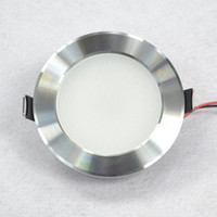 Wholesale 10pcs W W W LED down light ceiling light recessed light silver light shell