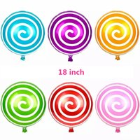 Wholesale 18inch colors Lollipop balloon balloons candy balloons Wholesael birthday party sports games accessory celebrate balloons
