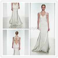 beach stores - 2017 mermaid Wedding Dresses satin and lace applique Can be customized Welcome to icebeauty66 online store