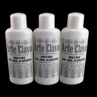arte nails - 3 x ml Gel Nail Cleanser Arte Clavo Nail Art Soak Off UV Gel Acrylic Powder Remover