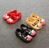 babies cattle - 2016 Jelly shoes mini Melissa New children jelly sandals For Baby Summer Sandals cow cattle Toddler Kids shoes PVC size