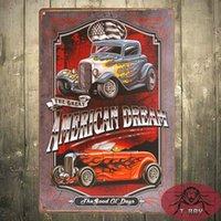 Wholesale American Dream TIN SIGN Hotrod Vtg Car Metal Garage Wall Decor Bar Diner B