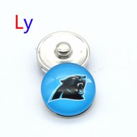 african panther - NOOSA super bowl Carolina snap button interchangeable panther snap bracelets jewelry snap ginger button chunk charm Clasps YD0028