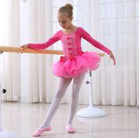 Wholesale 2016 Pretty Girls Ballet Dress For Kids Dance Clothing Super soft Kids Ballet Skirt Costumes Children Dance Leotard Dancewear
