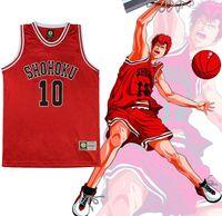 basketball dunk games - SLAM DUNK Cosplay Shohoku School Basketball Team No Sakuragi Hanamichi Cosplay Costume Jersey Tops Shirt Sports Wear Vest