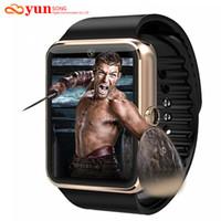 Wholesale Smartwatch Bluetooth Smart watch Wristwatch for Apple iPhone IOS Android Phone Intelligent Clock Sport Watch PK GT08 DZ09 F69 U8