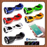 Wholesale New Phone APP LED Scooter Bluetooth Music Player Hoverboard Electric Skateboard Smart Scooter Two Wheel inch Balancing Wheel Days