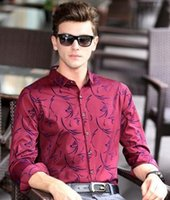 Wholesale The new autumn outfit men long sleeve shirt Men s printed business shirt