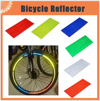 Wholesale Cycling Wheel Rim Reflective Stickers Bicycle reflector Fluorescent MTB Bike Bicycle Sticker Cycling Wheel Rim Reflective Stickers