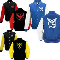 baseball support - 3Designs Poke Go Sweater Poke Jacket Newly Fashion Baseball Jacket Casual Coat Support Choose Sizes
