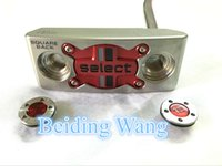 Wholesale New Select Golf Square Back Putter Removable Weights Screw Steel Inch Shaft Golf Squareback Putter Clubs