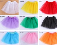 Wholesale Christmas Blouses - 19 colors 2016 candy color kids tutus skirt dance dresses soft tutu dress ballet skirt 3layers children pettiskirt clothes