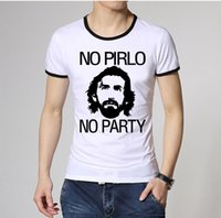 andrea green - Men Fashion Italian Andrea Pirlo Juventus T Shirts Ringer Short Sleeve Pattern Printed Male Sports Casual tee shirts Top Quality