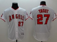 baseball cap material - Angels Blank Anaheim Angels baseball cap men Flexbase Jerseys LA Anaheim Red Mike Trout White Jerseys new material