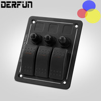 Wholesale 3 gang switch Car Boat Rocker lights Panel Switch Rocker with protection