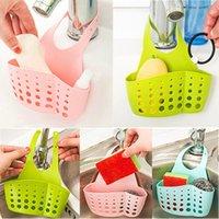 Wholesale Kitchen Sink Sponge Holder Hanging Strainer Organizer Storage Box Basket Rack