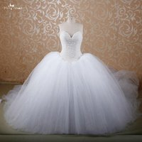 Wholesale E607 Puffy Princess Cathedral Royal Train Buy Red Ball Gown Bridal Wedding Gowns With Diamonds And Crystals HLA6