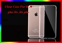 apple ipone - For Iphone Ipone S plus i6 i6 plus transparent TPU Gel Crystal Clear soft Silicon Case Back Cover