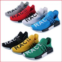 Wholesale NMD HUMAN RACE Yellow Color Running Shoes NMD Runner New Fashion Pharrell Williams X Boots Summer Shoes Size US7 White Black Red