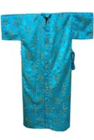 bath gown styles - High Fashion Blue Men s Satin Silk Nightwear Novelty Bath Gown Vintage Style Kimono Size S M L XL XXL M3S009