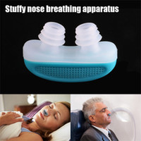 Wholesale 2016 New Design Snoring Cessation Nose Breathing Apparatus Air purifier ABS Stop Snoring Nose Clips TV Product With Retail Box Packing F435
