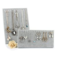Wholesale Cheap Jewelry Stand Fashion Velvet Necklaces Display Stand Bracelet Chains Jewelry Display Holder Stand