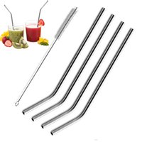 Wholesale New Metal Drinking Straw Stainless Steel Bend Drinking Straw Beer and Fruit Juice Straw Yeti Stainless Steel Straws For Sale